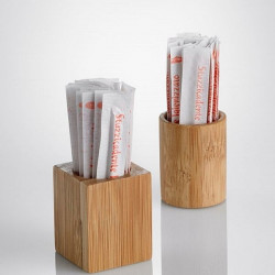 Suport scobitori bambus rotund 3,5cm.x4,5h S0106