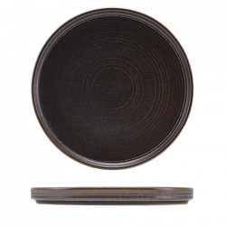 Farfurie prezentare low Terra Porcelain Black 25cm LP-PBK25