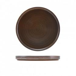 Farfurie prezentare low Terra Porcelain Rustic Copper 21cm LP-PRC21