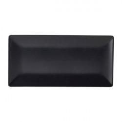 Platou dreptunghiular Luna Stoneware Black 30x15cm B2976