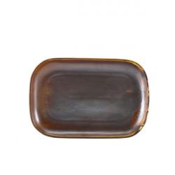 Platou Terra Porcelain Rustic Copper 29 x 19.5cm RP-PRC29