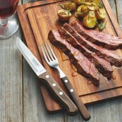 Cutit steak M Tramontina red set 12 buc 21414075