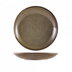 Farfurie adanca Terra Porcelain Grey 25cm DC-PG25