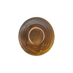 Farfurie ceasca espresso Terra Porcelain Rustic Copper 11.5cm SCR-PRC11