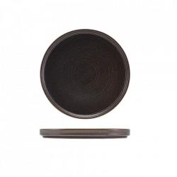 Farfurie prezentare low Terra Porcelain Black 18cm LP-PBK18