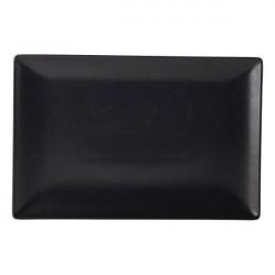Platou dreptunghiular Luna Stoneware Black 30x20cm B2883