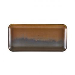 Platou dreptunghiular Terra Porcelain Rustic Copper 27 x 12.5cm NR-PRC27