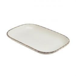 Platou Terra Stoneware Sereno Grey 29 x 19.5cm RP-SG29