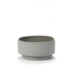 Bol cereale Inner Circle grey light grey 14x7 cm V9020001LG