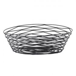 Cos oval metal negru BK17410