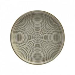 Farfurie prezentare Low Terra Porcelain Matt Grey 21cm LP-PMG21