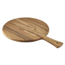 Platou lemn rotund cu maner 33x47cm WPB33
