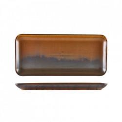 Platou rectangular Terra Porcelain Rustic Copper 36x17 cm NR-PRC36