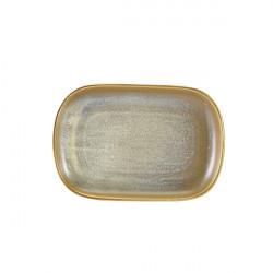 Platou Terra Porcelain Matt Grey 24 x 16.5cm RP-PMG24