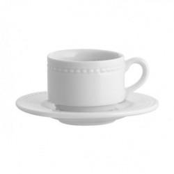 Set ceasca si farfurie cappuccino Perla 26cl 21101981