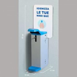 Dispenser dezinfectant perete metalic - actionare cu cotul SD3G-GOM