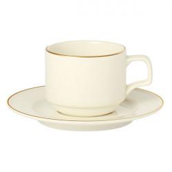 Farfurie ceasca cafea Academy Event Gold Band A133215GB