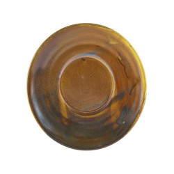 Farfurie ceasca cafea Terra Porcelain Rustic Copper 14.5cm SCR-PRC14