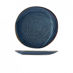 Farfurie coupe Terra Porcelain Aqua Blue Organic 28.5cm CP-PBLG28