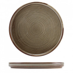 Farfurie prezentare Low Terra Porcelain Grey 25cm LP-PG25