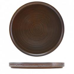 Farfurie prezentare Low Terra Porcelain Rustic Copper 25cm LP-PRC25