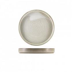 Farfurie prezentare Terra Porcelain Grey 18cm PR-PG18