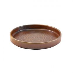 Farfurie prezentare Terra Porcelain Rustic Copper 18cm PR-PRC18