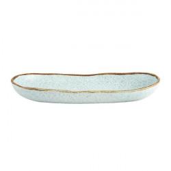 Platou servire oval Rustic Blend Turquoise 34,5cm 27020974
