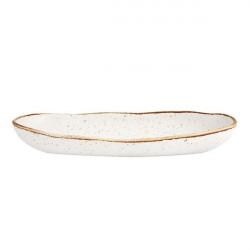 Platou servire oval Rustic Blend White 34,5cm 27020966