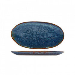 Platou servire Terra Porcelain Aqua Blue Organic 31cm PL-PBLG31