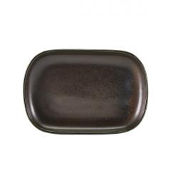 Platou Terra Porcelain Black 24 x 16.5cm RP-PBK24