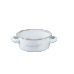 Caserola white tin 250ml 11x4,5h cm P3012