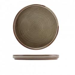 Farfurie prezentare low Terra Porcelain Grey LP-PG18