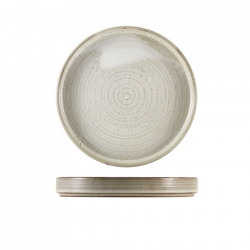 Farfurie prezentareTerra Porcelain Grey 21cm PR-PG21