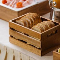 Ladita lemn acacia 26x15x11,7 cm S5022