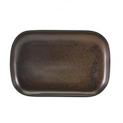 Platou Terra Porcelain Black 29 x 19.5cm RP-PBK29