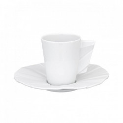 Set ceasca espresso cu farfurie Matrix Biscuit Matt 80ml 21115740