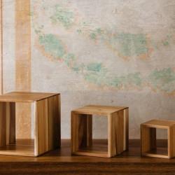 Set cub expozitoare bufet acacia 13/18/23 cm S5050