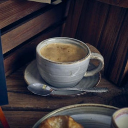 Farfurie ceasca espresso Terra Porcelain Smoke Grey 11.5cm SCR-PG11