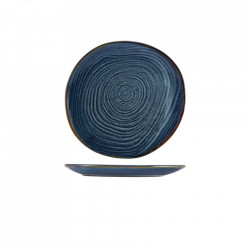 Farfurie coupe Terra Porcelain Aqua Blue Organic 21cm CP-PBLG21
