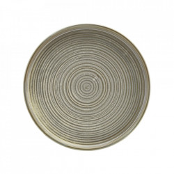 Farfurie prezentare low Terra Porcelain Matt Grey 18cm LP-PMG18