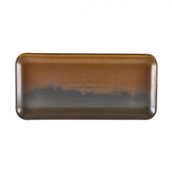 Platou dreptunghiular Terra Porcelain Rustic Copper 30 x 14cm NR-PRC30