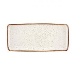 Platou servire rectangular Rustic Blend White 36,5cm 27020959