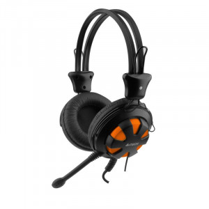 Casti cu microfon A4tech HS-28-3, Portocaliu/Negru