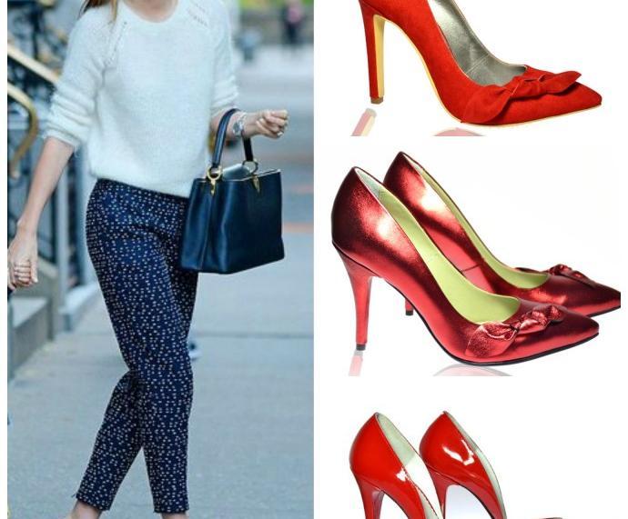 Cum asortam pantofii rosii in outfituri simple sau complexe?