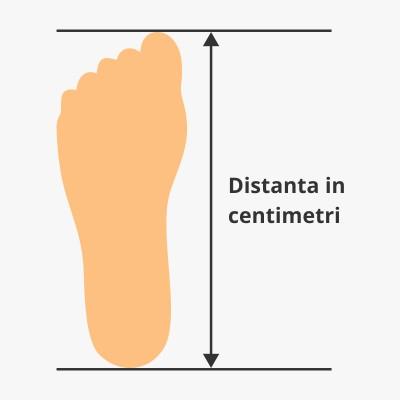 Zona de masurare a talpei piciorului
