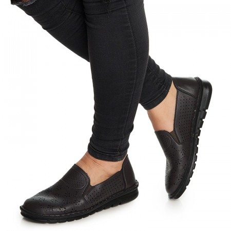 Pantofi casual cu talpa usoara Ania negru
