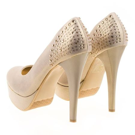 Pantofi cu platforma chic Amalia bej