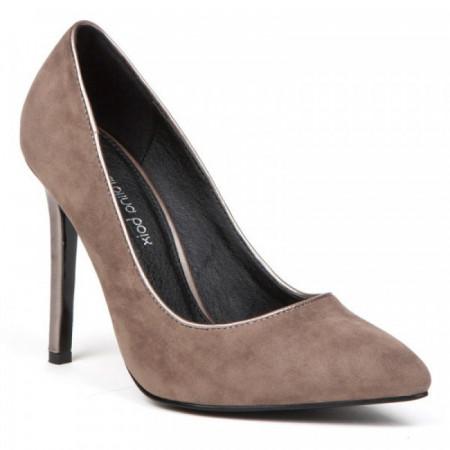 Pantofi dama, cu toc, Taupe