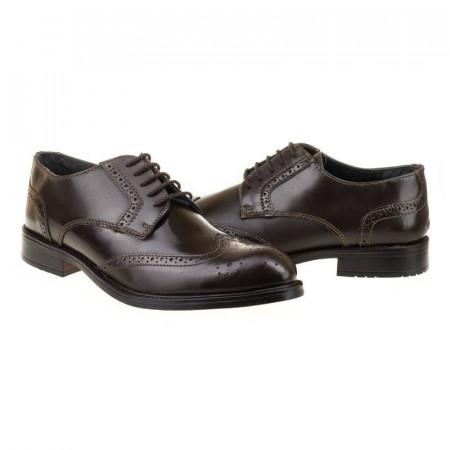 Pantofi office din piele naturala italiana Edoardo
